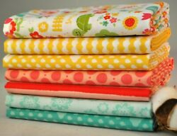 Bloom Where You#x27;re Planted 7 Fabric Fat Quarters Lori Whitlock for Riley Blake