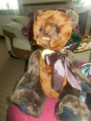 Orian Charlie Bear With Tags On Hard To Find Bear Wears A Bow With Bell