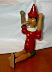 Vintage 10 Pinocchio Wooden Puppet/marionette Signed Colloid