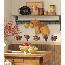26 Fruit Harvest Wall Decals Country Apples And Grapes Stickers Kitchen Decor New
