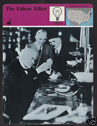 The Thomas Edison Effect Light Bulb Henry Ford Photo Story Of America Card