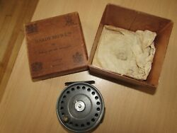Vintage Hardy St George 3 Screw Latch Agate Trout Fly Fishing Reel 3.75 Boxed