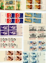 1980-1982 Plate Blocks -20 Different- MNH w 2019 2025 -- AT FACE! Hi Res Scans