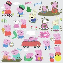 28 New Peppa Pig Peel amp; Stick Wall Decals George amp; FamilyNursery Kids Stickers