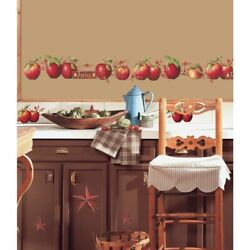 New Country Apples Stars And Berries 40wall Decals Border Stickers Kitchen Decor