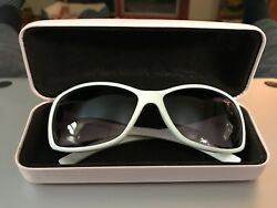Designer White Sunglasses with pink case