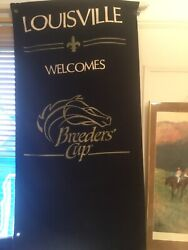 Official Louisville Ky 1988 Churchill Downs Breeders Cup Street Pole Banner