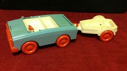 Lot Vintage Hasbro Weeble Wobble Camp About Camper Convertible Boat Trailer 1973