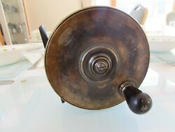 Excellent Vintage Malloch Perth Brass Sun + Planet Salmon Fly Fishing Reel 4.5
