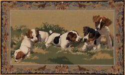 Jack Russell Terrier Hand Woven Tapestry Rug Size 36 x 60 Inches