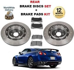 FOR NISSAN GTR 3.8 V6 2009-2010 REAR BRAKE DISCS SET + BRAKE PADS KIT
