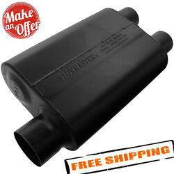 Flowmaster Super 44 Muffler - 3.00 Offset In / 2.50 Dual Out - Aggressive Sound