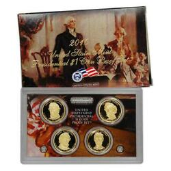 2010 Us Mint Proof 4 Coin Presidential Proof Set, Original Mint Packaging