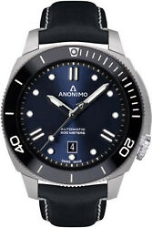Watch Man Anonimo Nautilus Am100209006a03 Leather Royal Blue