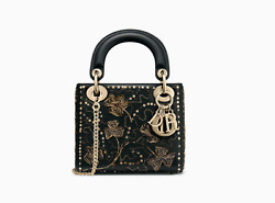 Christian dior  MINI LADY DIOR BAG IN EMBROIDERED CALFSKIN  2019 $4700 retail