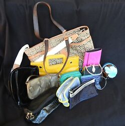 Lot of 13 Various Pre Owned Purse Designer Bags Coach $59.95