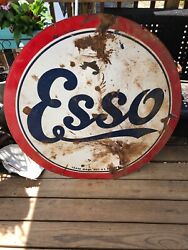 """Esso Oil Two Sided 42"""" Round Sign"""