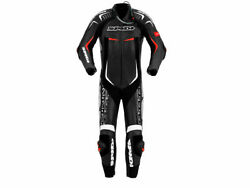 Spidi Track Wind Replica Evo Motorcycle Racing Leather Suit Black/white/red