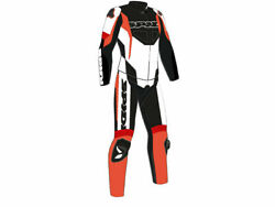 Spidi Sport Warrior Touring Motorcycle Leather Suit 2-pc Black/red