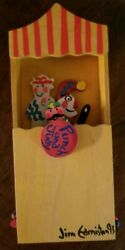 Punch And Judy Wooden Puppet Show Toy Signed By Artist Jim Edminston
