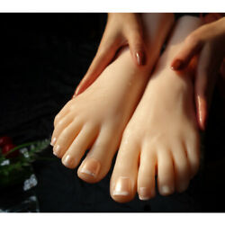 Gift Silicone Female Foot Model Mannequin Display Jewerly Sandal Girl Foot