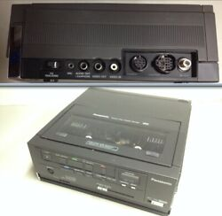 Vintage Panasonic Nv-8420 Portable Vcr With Power Cord And Ag-150 Cam Corder
