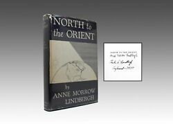 Anne Morrow Lindbergh  North to the Orient With Maps By Charles Signed 1st 1935