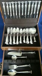 Wallace Romance Of The Sea Sterling Silver Flatware Set 65 Piece