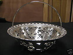 And Co. Sterling Silver Round Basket W. Handle