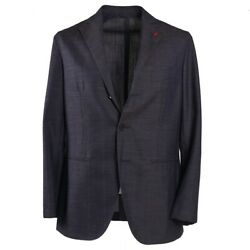Nwt 4295 Isaia Unlined Lightweight Brown-blue Check Wool-linen-silk Suit 40 R