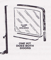 Ford Pickup Truck Deluxe Window Channel Kit 1957-1960 - Sa Special