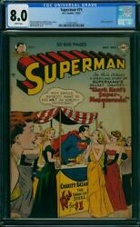 Superman 71 Cgc 8.0 Dc 1951 Luthor Appearance White Pages K4 153 1 Cm