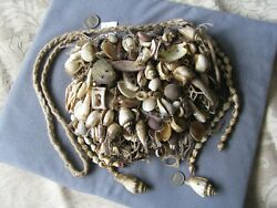 Rare Old Authentic Tribal Shaman Medicine Bag Cameroon Woven Assorted Shells