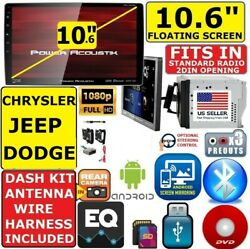 Chrysler Jeep Dodge 10.6 Bluetooth Cd/dvd Sd Usb Car Radio Stereo Package