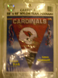 Nfl Brand New Heavy Weight Nylon 28x40 Pennant Pole Flag Double Sided