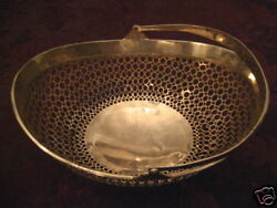 Ornate Russian 84 Silver Pierced Basket With Handle