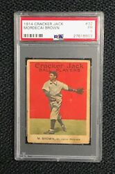St. Louis Terriers Mordecai Brown 1914 Cracker Jack #32 PSA Poor 1