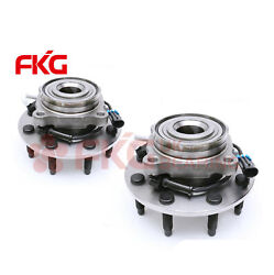 Pair Of 2 Front Wheel Bearing Hub Assembly For Chevy Gmc Pickup Truck 2wd 515086