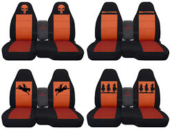 Fits Ford Ranger/truck Car Seat Covers 60-40 Console Not Included Blk-orange