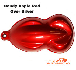 Candy Apple Red Over Silver Basecoat Tri-coat Gallon Car Vehicle Auto Paint Kit