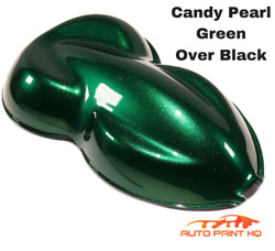 Candy Pearl Green Over Black Basecoat Tri-coat Gallon Car Vehicle Auto Paint Kit