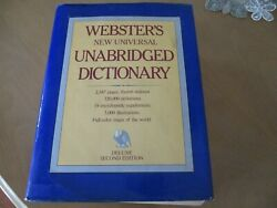 Websters New Universal Unabridged Dictionary 1983 hardcover education HCDJ XCOND