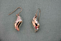 And Co Elsa Peretti Sun Wave Sterling Silver Earrings Vintage Very Rare