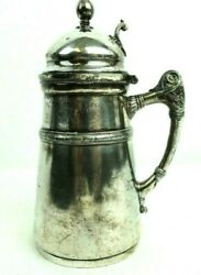 Antique Rodgers Smith And Co Quadruple Plate Syrup Pitcher 188 Pat 1865 Made 1873