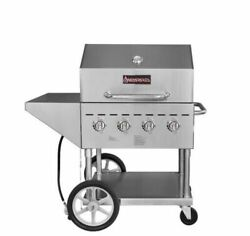 New Sierra Srbq-30 Commercial Stainless Steel Outdoor Propane Grill With Wheels