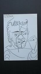 Picasso Original Lithograph Hommage To Kahnweiler Signed Dated Litho Mourlot