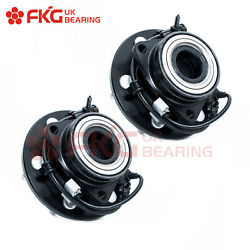 2 Front Wheel Hubs Bearings Pair Set W/ Abs For Chevy Gmc Truck 4wd 6 Lug 515036
