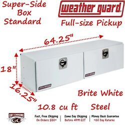 265-3-02 Weather Guard White Steel Super-Side Top Mount 64