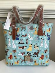Disney Dooney And Bourke Dogs 2017 Blue Original Tote Purse Limited Edition Nwt