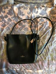 Authentic Crossbody Coach Purse in Black Leather $90.00